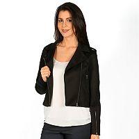 Women's Harve Benard Crop Moto Jacket