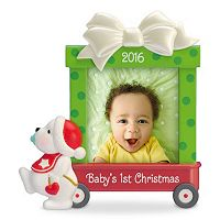 Beary Cute Baby's First Christmas Photo Holder 2016 Hallmark Keepsake Christmas Ornament