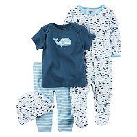 Baby Boy Carter's Whale Sleep & Play, Tee, Striped Pants & Hat Set
