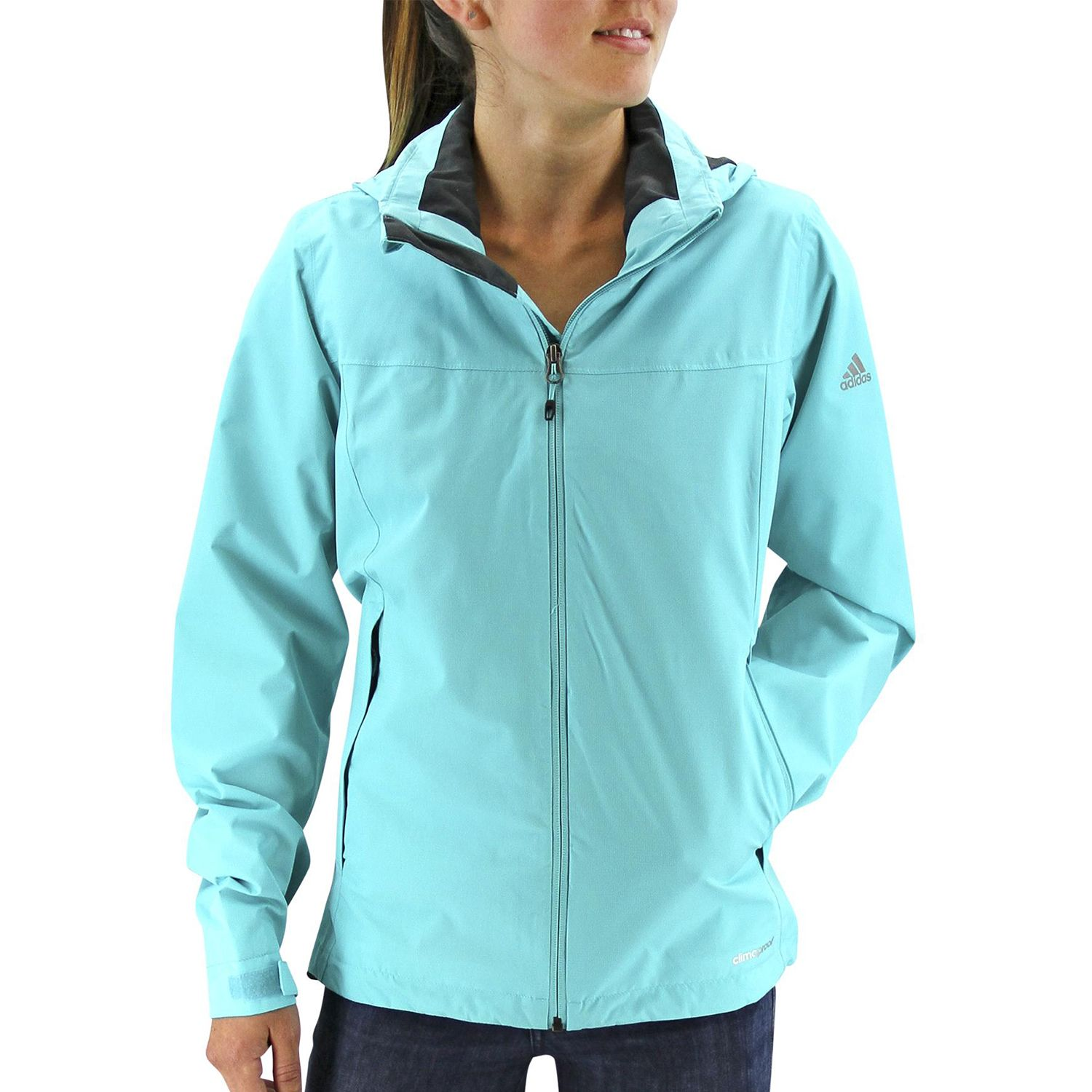 Womens adidas Outdoor Prime Climaproof Hooded Rain Jacket