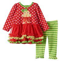 Baby Girl Nannette Gingerbread Tutu Dress & Leggings Set