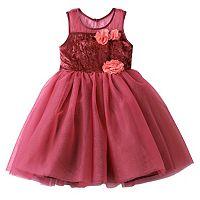 Girls 4-6x Nannette Flower Tulle Velvet Dress