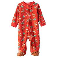 Baby Rudolph the Red Nosed Reindeer Rudolph Pattern Fleece Sleep & Play