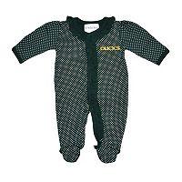 Baby Two Feet Ahead Oregon Ducks Pin Dot Footed Bodysuit