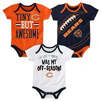 Baby Chicago Bears 3-Piece Bodysuit Set