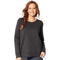 Plus Size Just My Size Fleece Crew Sweatshirt