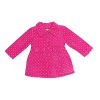 Baby Girl Wippette Polka-Dot Fleece Jacket
