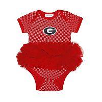 Baby Two Feet Ahead Georgia Bulldogs Pin Dot Tutu Bodysuit