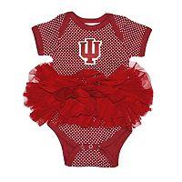 Baby Two Feet Ahead Indiana Hoosiers Pin Dot Tutu Bodysuit