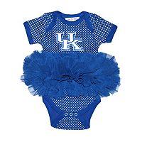 Baby Two Feet Ahead Kentucky Wildcats Pin Dot Tutu Bodysuit