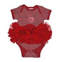 Baby Two Feet Ahead Oklahoma Sooners Pin Dot Tutu Bodysuit