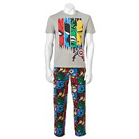 Men's 2-Piece Marvel Comics Tee & Pants Loungewear Set