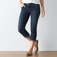 Women's SONOMA Goods for Life™ Faded Cuffed Capri Jeans