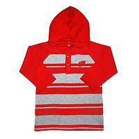 Toddler Two Feet Ahead Wisconsin Badgers Long-Sleeve Hooded Shirt