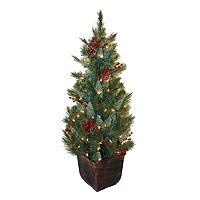 General Foam Plastics Potted Pre-Lit Artificial Christmas Tree