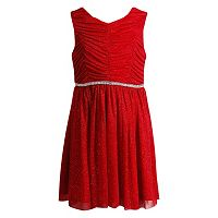 Girls 4-6x Youngland Red Glitter Matte Dress