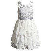 Girls 4-6x Youngland Crochet Lace Waterfall Skirt Dress