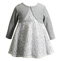 Girls 4-6x Youngland Crochet Lace Dress & Long Sleeve Shrug Set