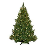 General Foam Plastics 4.5-ft. Multicolor Pre-Lit Montana Pine Artificial Christmas Tree