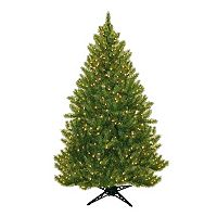 General Foam Plastics 6.5-ft. Pre-Lit Montana Pine Artificial Christmas Tree