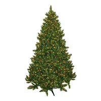 General Foam Plastics 7.5-ft. Multicolor Pre-Lit Montana Pine Artificial Christmas Tree