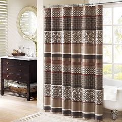 Madison Park Dartmouth Jacquard Shower Curtain by