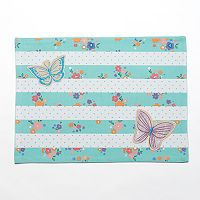 Celebrate Spring Together Striped Butterfly Placemat