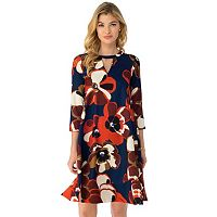 Women's Indication by ECI Retro Floral Shift Dress