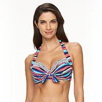 Women's Apt. 9® Watercolor Halter Bikini Top