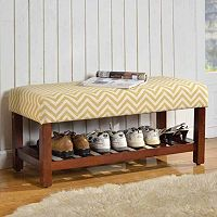 HomePop Chevron Entryway Bench