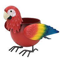 Celebrate Spring Together Indoor / Outdoor Metal Parrot Planter