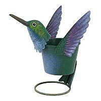 Celebrate Spring Together Indoor / Outdoor Metal Hummingbird Planter