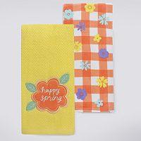 Celebrate Easter Together Happy Spring Kitchen Towel 2-pk.