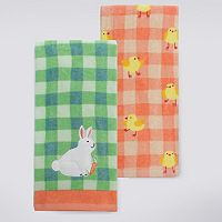 Celebrate Easter Together Bunny With Carrot Kitchen Towel 2-pk.