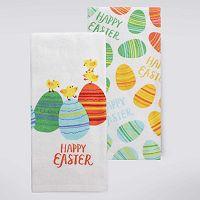 Celebrate Easter Together Chicks & Eggs Kitchen Towel 2-pk.
