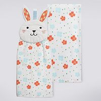 Celebrate Easter Together Bunny Tie-Top Kitchen Towel 2-pk.