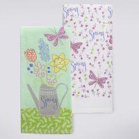 Celebrate Easter Together Flower Jar Kitchen Towel 2-pk.