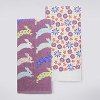 Celebrate Easter Together Bunny Rows Kitchen Towel 2-pk.