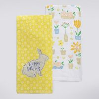 Celebrate Easter Together Bunny Patch Kitchen Towel 2-pk.