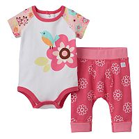 Baby Girl Boppy Flower Bodysuit & Pants Set