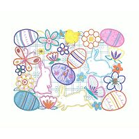 Celebrate Easter Together Cutout Bunny Placemat