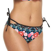 Mix and Match Floral Side-Tie Hipster Bikini Bottoms
