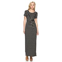 Women's Apt. 9® Ruched Striped Maxi Dress