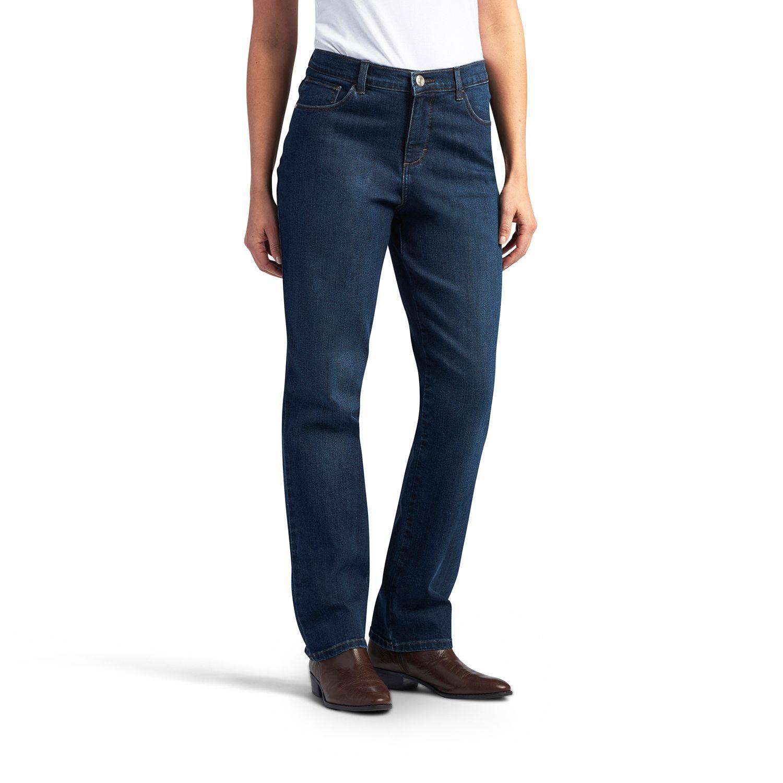 Petite Lee Teagan Straight-Leg Jeans