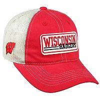 Adult Top of the World Wisconsin Badgers Patches Adjustable Cap
