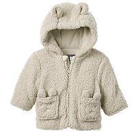 Baby Boy Rothschild Fleece-Lined Hooded Sherpa Teddy Bear Jacket