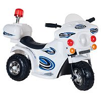 Lil' Rider SuperSport Three-Wheeled Police Motorcycle Ride-On