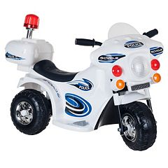 Lil' Rider SuperSport Three-Wheeled Police Motorcycle Ride-On by