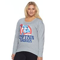 Juniors' Plus Size Marvel Captain America Graphic Fleece Sweatshirt