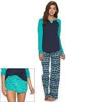 Juniors' SO® Pajamas: 3-Piece Pajama Set